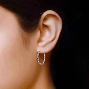 925 Sterling Silver Hoop Earring
