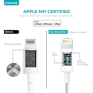 lightning charger cables for iphone 6ft long cable heavy duty fast charge mfi certified