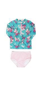 girls swimsuit rufflebutts long sleeve sun protective