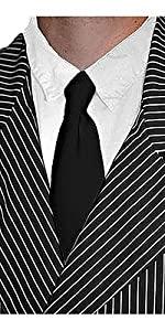 black gangster tie, tie, costume