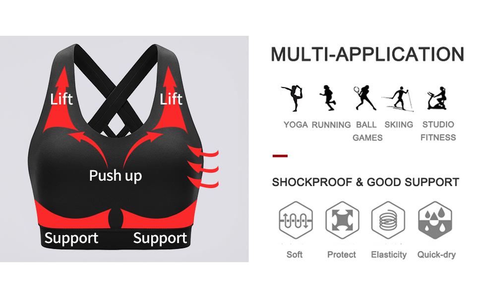 sports bras for women high impact running