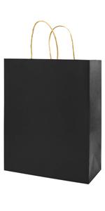 Medium Black 8*4.75*10 inch 50Pcs Kraft Bags