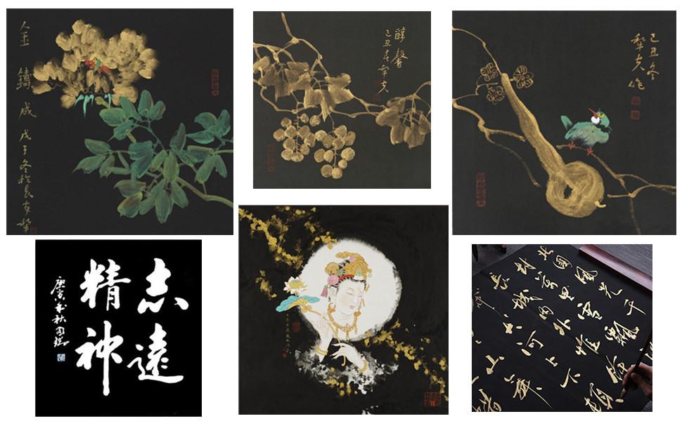 Chinese Wan Nian Hei Black Xuan Paper 万年黑