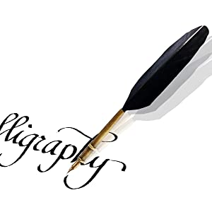 Calligraphy quill pen set Turkey feather dip ink
