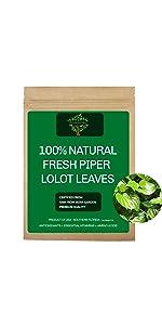 Fresh Piper Lolot Leaves, Fresh Piper Lolot Tea