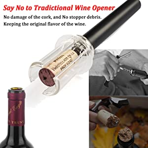 Wine Air Pressure Pump Opener Set