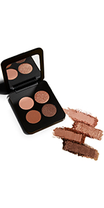 matte colors warm tones pigment waterproof shadow shimmer glitter lasting nude travel brush
