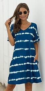 Tie Dye Loose Shift Short Dress