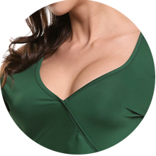 Sexy Wrap and Low Cut V Neck