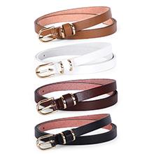 women black white thin waist belt