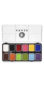 12 color face paint palette