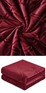 Wine Red Blanket