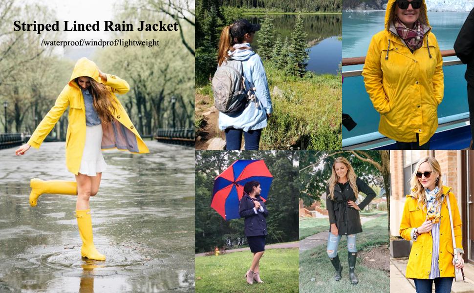 waterproof rain jacket with hood