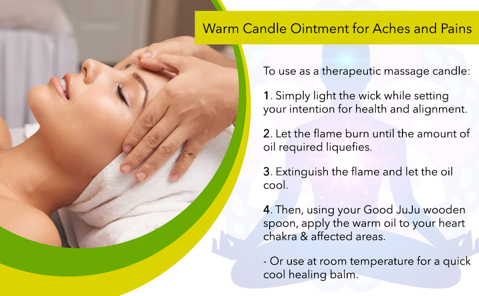 Use therapy candle for aches and pains