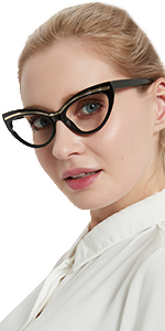 Fashion cat eye reading glasses women stylish readers