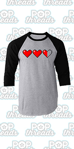 Gamer Gifts Video Game Merchandise Gaming Funny Raglan Baseball Tee Shirt
