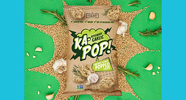 clean eating, delicious snacks, Popped chips, ancient grains, puffs