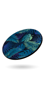 Tropical Palm Fern Leaves Design Mouse Pad