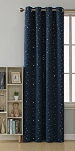 navy blackout curtains