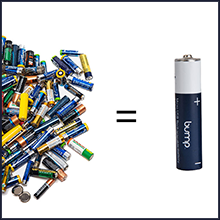Recharge up to 1000 times and save hundreds and hundreds of alkaline batteries from waste.