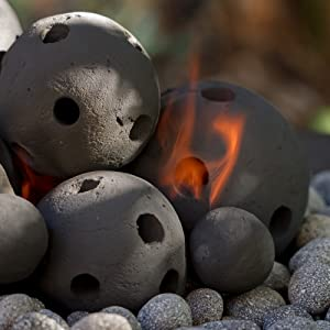 ceramic hollow fire balls fire pit outdoor indoor new modern round proof
