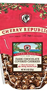 dark choolate covered cherry premium candy sweet packaged gift