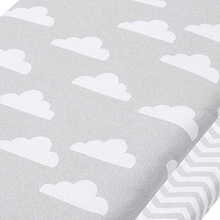 Baby sheets cloud chevron