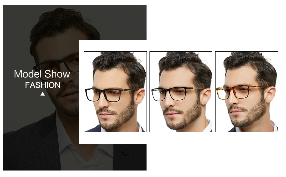 men black transparent brown reading glasses 1.5