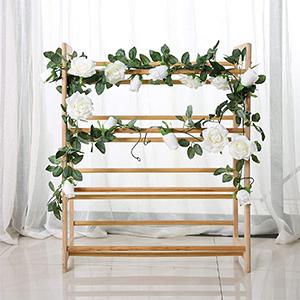 white rose flower hanging garlands