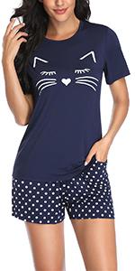 cute short pajamas set