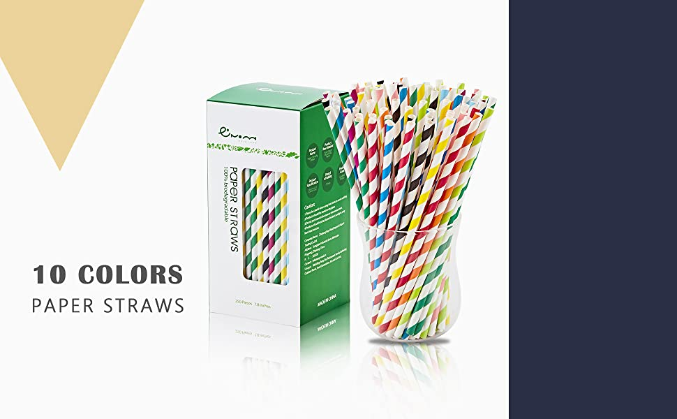 paper straws biodegradable drinking straws disposable Christmas dye free party supplies decoration