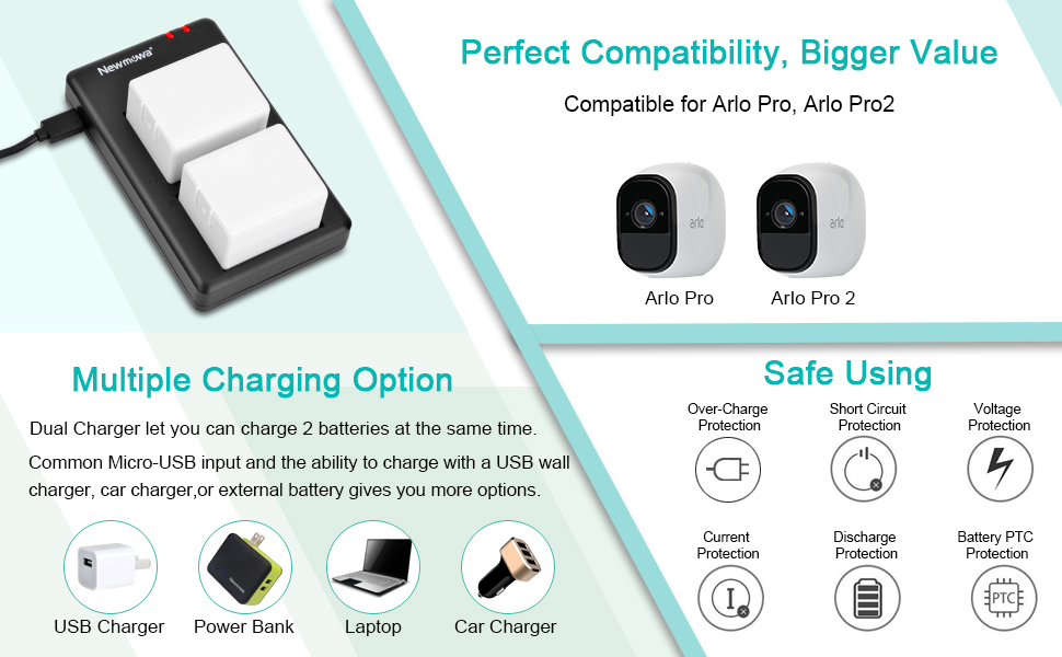 battery charger for Arlo Pro