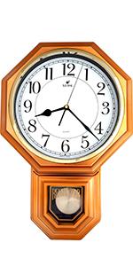 Vintage Copper Pendulum Wall Clock