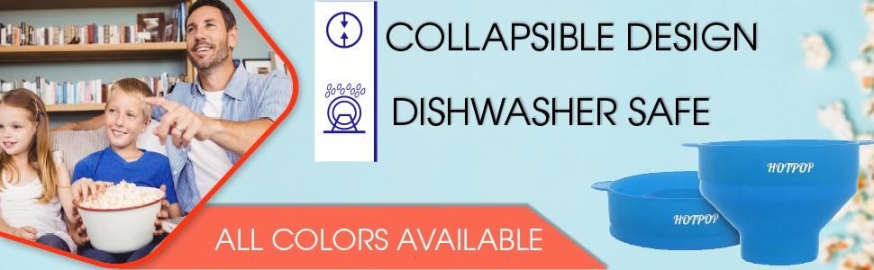 collapsible design dishwasher safe