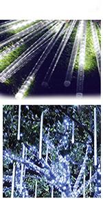 10 Tube 240 LED Waterproof Plug in Christmas Lights Meteor Shower Rain Lights outdoor christmas tree