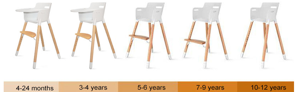 wooden high chair for baby