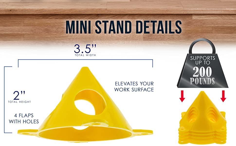 20 Pack Mini Cone-Shaped Art Stands