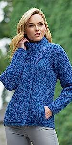 X4274, Aran Crafts, Sweater, Irish