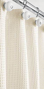 waffle weave 100% cotton fabric shower curtain