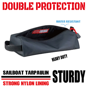 rough enough large pencil case small tool pouch made of waterproof tarpaulin with real nylon lining
