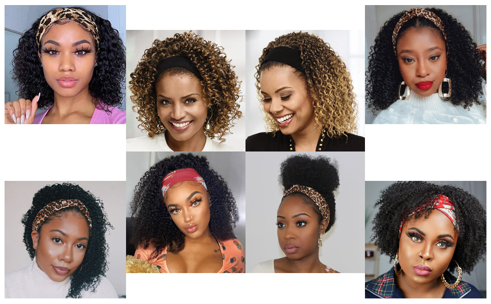 Kinky Curly Headband Wig, Get Your New Beauty Now!