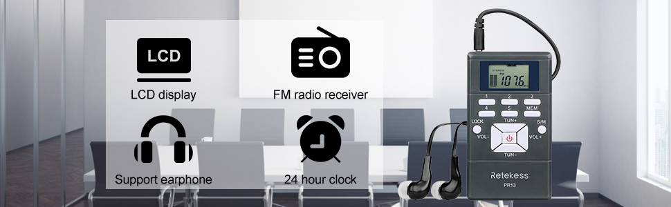 portable fm radio receiver
