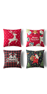 decrative christmas pillow covers xmas pillow cases decorative holiday thriw pillow covers18x18 inch