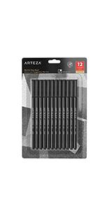 ARTZ-8191 Fineliner_Pens_12_Black