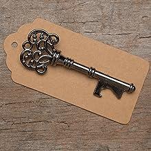 charcoal skeleton key bottle openers
