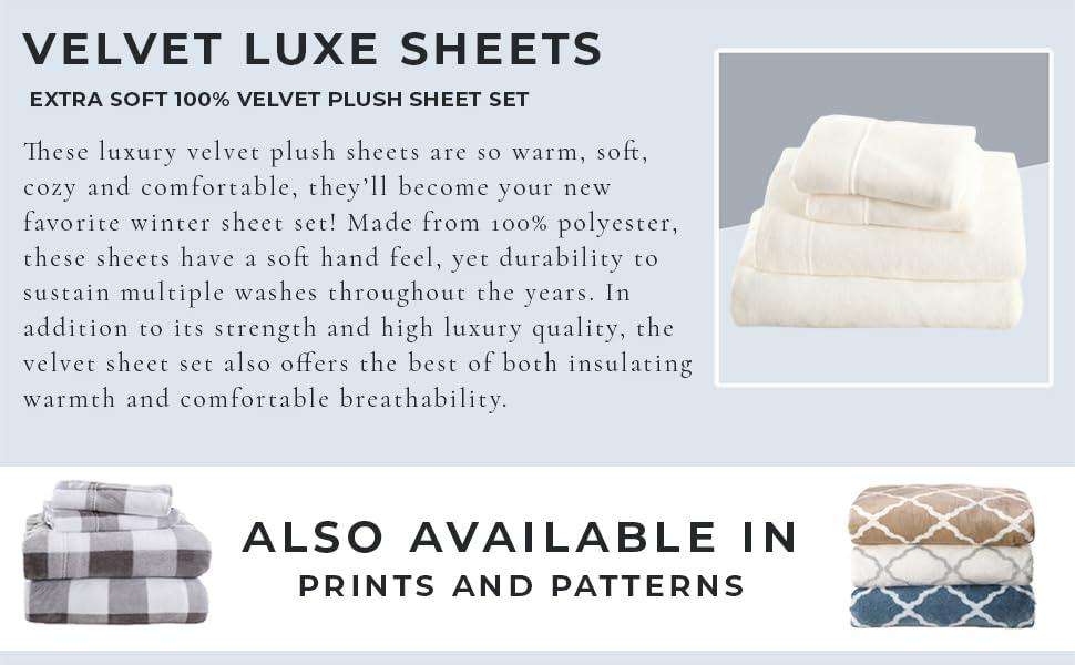 Velvet Luxe Sheet Set, Velvet Plush Sheets
