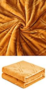 HT&PJ Flannel Fleece Throw Blanket