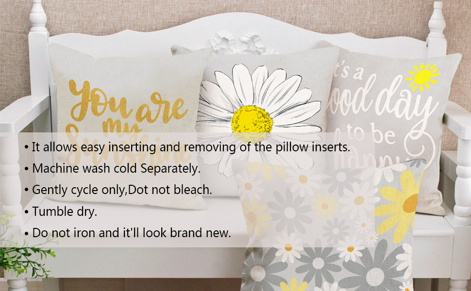 yellow grey throw pillow covers set of 4