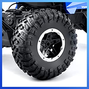 Our rc crawler comes with four suspension springs,to protect the electronic components in the toy