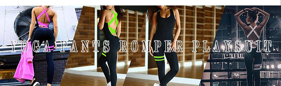 Bandage Sports Yoga Jumpsuits